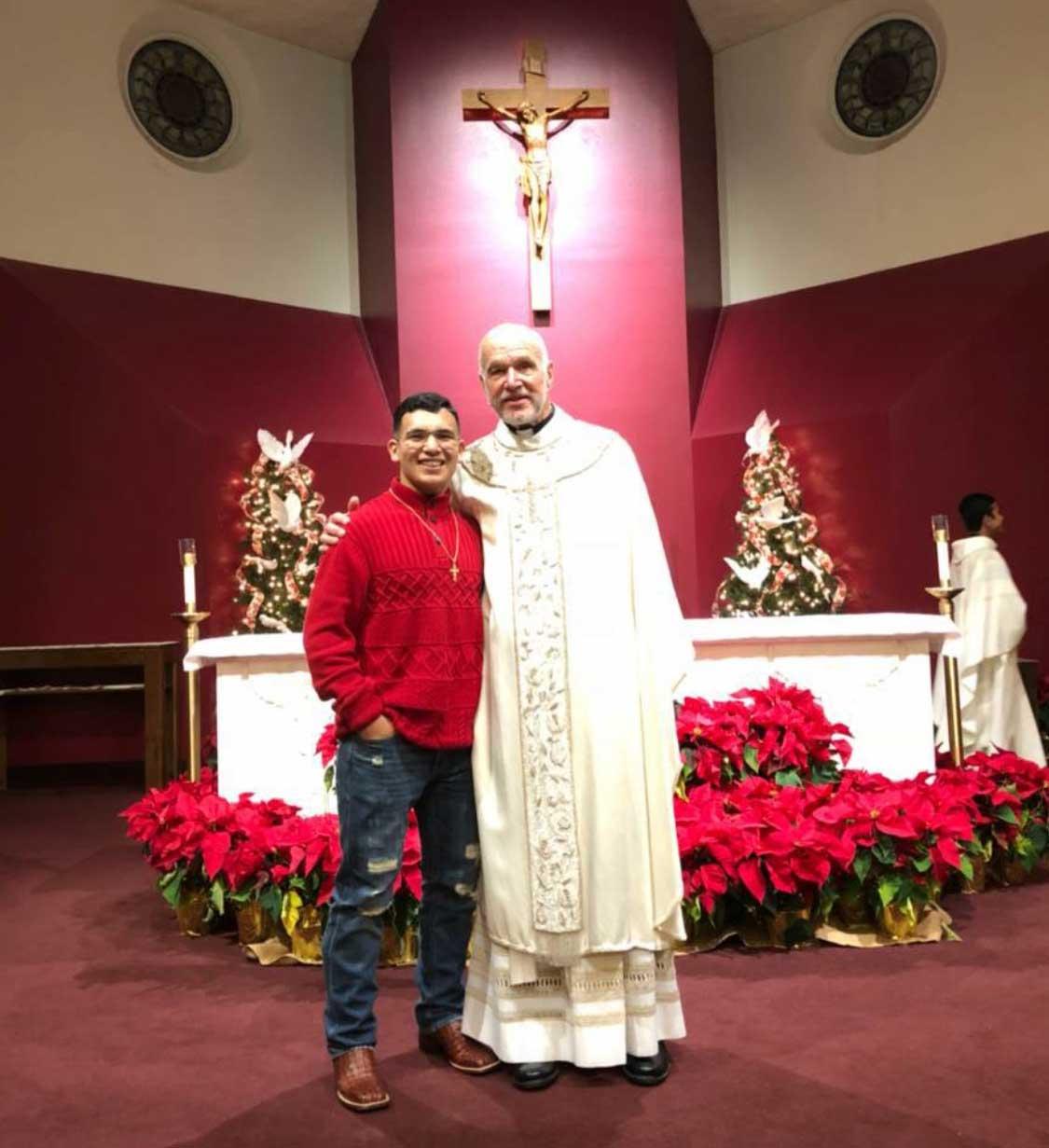 Msgr White & Aaron Lugo
